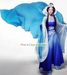 神話中国古典の王女と髪飾り服コンプリートセット