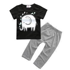 $4.46 (Buy here: https://alitems.com/g/1e8d114494ebda23ff8b16525dc3e8/?i=5&ulp=https%3A%2F%2Fwww.aliexpress.com%2Fitem%2FNew-2016-summer-baby-boy-clothes-shorts-sleeve-elephant-tops-pants-2pcs-newborn-carters-clothing-set%2F32636064575.html ) New 2016 summer baby boy clothes shorts sleeve elephant tops + pants 2pcs newborn  clothing set 100% cotton for just $4.46