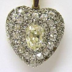 Antique diamond locket-reminds me of my Brighton Shakespeare Locket. ~<3K8<3~