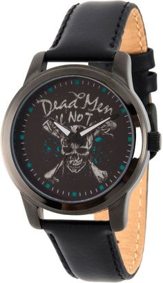 cd536f34d005 Disney Pirates of the Carribean Mens Black Strap Watch Wds000376 JCPenney