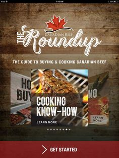 The Roundup App - Get cooking Canadian beef with inspiration on what to cook, how to cook and how to buy beef! What To Cook, Itunes, Android, Beef, App, Recipe, Inspiration, Biblical Inspiration, Apps