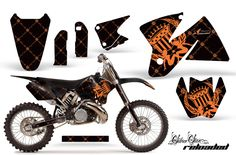 KTM C2 SX 1998-2000 125-520 EXC Graphics | CREATORX Graphics MX & ATV Decals, Sled & UTV Wraps