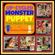 UpCycled DIY Monster Puppet via RainbowsWithinReach
