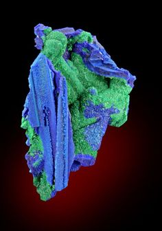 Azurite, Malachite after Gypsum Utah, USA