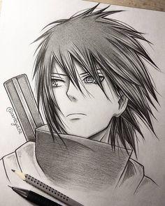 Sasuke - by Naruto Naruto Shippuden Sasuke, Naruto Kakashi, Anime Naruto, Otaku Anime, Manga Anime, Sakura Kakashi, Sasuke Drawing, Naruto Drawings, Manga Drawing