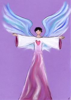 it is so wonderful to draw people's angels so they can more easily connect to them! Order yours from www.angelsco.nl (under angels)