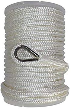 """1//2/"""" x 50/'  NYLON SOLID BRAIDED ROPE// STAINLESS STEEL CLASP"""