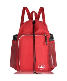 d5da02ac32c3 Drawstring Gym Backpack Sports Bag Sackpack for Men- Women   Children - red  - CT18GH95Y3X