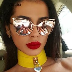 Check lastest price New Fashion Women Sunglasses Cat Mirror Glasses Metal Cat Eye Sunglasses Women Brand Designer High Quality Sun Glases Drop Ship just only $5.27 with free shipping worldwide  #womanaccessories Plese click on picture to see our special price for you