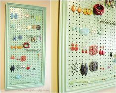 If your jewelry collection contains earrings mostly then it must be difficult every time you have to find a pair from the stash to compliment your Diy Earring Holder, Diy Earrings, Jewelry Collection, Holiday Decor, Frame, Organize, Makeup, Home Decor, Diy Kid Jewelry