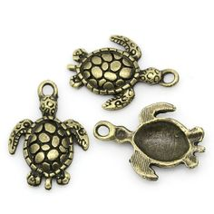 5 Bronze Sea Turtle Charms 4315 by OverstockBeadSupply on Etsy, $1.60
