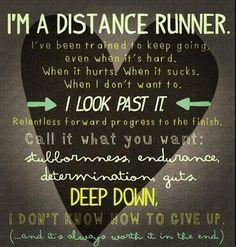 i'm a distance runner ...