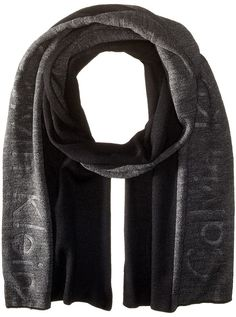 $36, Calvin Klein Embossed Repeat Muffler. Sold by Zappos. Click for more info: https://lookastic.com/men/shop_items/344447/redirect