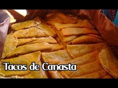 RECETA FACIL DE TACOS DE CANASTA | TACOS AL VAPOR | CC ENGLISH | Ricardo Renteria - YouTube Tacos Al Vapor, Hard Shell Tacos, Traditional Mexican Food, Best Mexican Recipes, Good Food, Yummy Food, Mexican Dishes, Mexican Desserts, Dessert Recipes