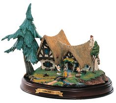 Seven Dwarfs cottage (WDCC - Enchanted Places) from our Walt Disney Classics Collection collection Casa Disney, Disney Home, Disney Art, Disney Movies, Disney Classics Collection, Classic Collection, Snow White Seven Dwarfs, Disney Figurines, Witch House