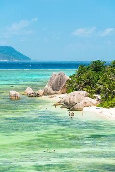 The beach of Anse Source D'Argent, on the island of La Digue, is one of the finest in the Seychelles // photo by Justin Foulkes Lonely Planet, Wonderful Places, Beautiful Places, Seychelles Islands, Seychelles Beach, Beau Site, Mauritius, Travel Pictures, Mother Nature
