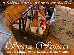 Find all your Picnic supplies at Sierra Wisteria. 325 Main St., Chester, CA 96020. 530-258-4205  www.sierrawisteria.com