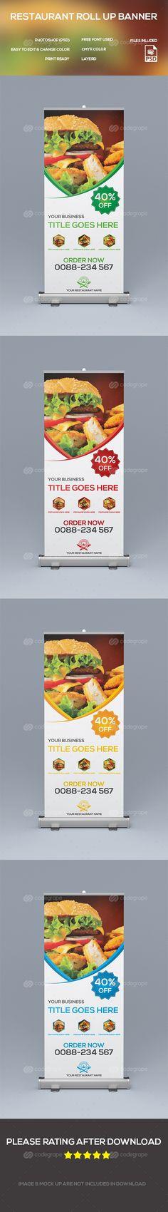 Restaurant Roll-up Banner on @codegrape. More Info: http://www.codegrape.com/item/restaurant-roll-up-banner/8685