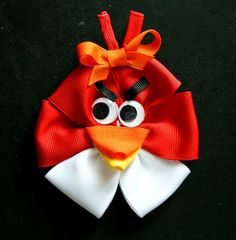 1 metre angry birds circles ribbon 7 8 bows headbands hair clips.