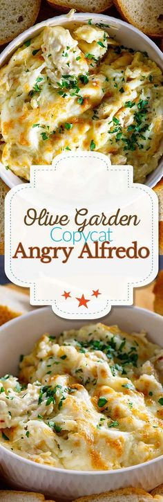 Copycat Olive Garden Angry Alfredo Recate the Olive Garden Angry Alfredo Dipping Sauce at home. Filled with chicken, and just the right amount of spice this recipe is a perfect appetizer or addition to your party. Appetizer Dishes, Yummy Appetizers, Appetizer Recipes, Recipes Dinner, Pasta Recipes, Chicken Recipes, Cooking Recipes, Dishes Recipes, Chicken Meals