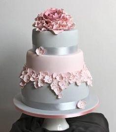 shiny and pastel cake