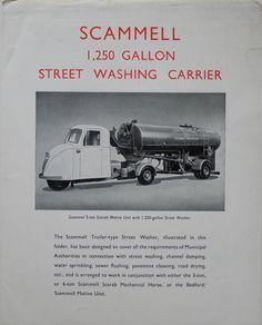 英国版 スキャメル・スカラブ(三輪トラクター)パンフ SCAMMELL  1940〜1960年代