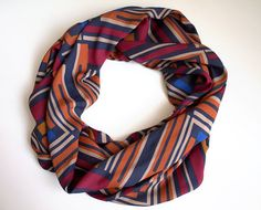BIG SALE Fall Autumn Geometric Infinity Scarf Loop by fairstore
