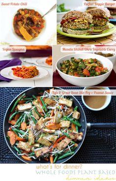whole foods plant based (vegan) dinner ideas