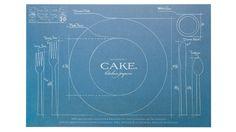 Hehe (Cake Vintage Blueprint Placemat)