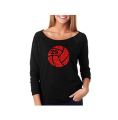 VOLLEYBALL Off Shoulder Shirt. Volleyball Shirt. Custom #  Welcome to TNT Custom Apparel's Shop. First we would like to let you know this design also comes in three other garments types. (See links at bottom) This is a single color volleyball heart!  This listing is for one Ladies Terry Raw Edge 3/4 Sleeve Raglan with a  VOLLEYBALL w/# on the front. DESIGN SIZE: Graphic Design is 10in wide ------------------------------------------------------- ORDERING INSTRUCTIONS: 1. Select your Garment…
