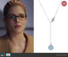 Felicity's necklace on Arrow.  Outfit Details: http://wornontv.net/44490/ #Arrow