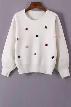 Long Sleeve Stereo Floral Jumper