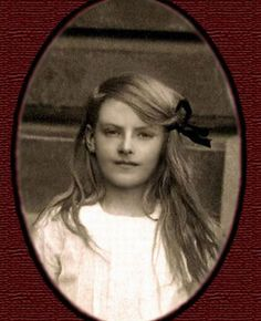 A very young Greta Garbo, c1915..
