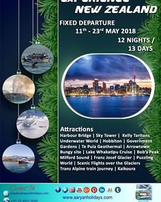 Let's visit New Zealand and discover the Passion of Travel....!!!