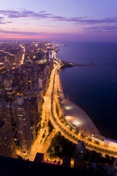 Chicago... i picture this view from our full wall window :)