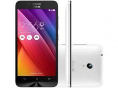 "Smartphone Asus ZenFone Go 16GB Branco Dual Chip - 3G Câm. 8MP Tela 5"" HD Proc. Quad Core Android 5.0"
