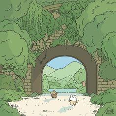 Cute Pastel Wallpaper, Soft Wallpaper, Cute Patterns Wallpaper, Scenery Wallpaper, Kawaii Wallpaper, Wallpaper Iphone Cute, Green Wallpaper, Aesthetic Art, Aesthetic Anime