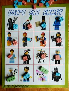 lego movie don't eat pete, legos, party games, lego party, free printable, printable party games