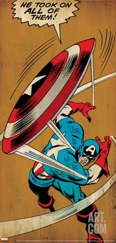 Marvel Comics Retro: Captain America Comic Panel, Throwing Shield
