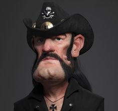 Here is a tribute to the late great Lemmy Kilmister from Motörhead by ZBrushCentral member Guzz Soares. Nice work!