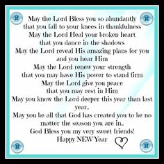 New Years blessing