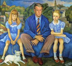 Portrait of the Knight Family by Diego Rivera, (1886-1957)