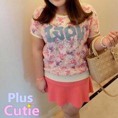 "#spreepicky #pluscutie #plussizeT-shirt #shortsleeve #kawaiiT-shirt #floriatedT-shirt #freeship  Free Shipping Worldwide  Material: Polyester   Color: Apricot  Size: L/XL/XXL/XXXL  L: Bust:100cm/39.30""  Shoulder:36cm/14.15""  Bottom Width:68cm/26.72""  Length:61cm/23.97""  Sleeve Length:16.5cm/6.48""  XL: Bust:110cm/43.23""  Shoulder:38cm/14.93""  Bottom Width:76cm/29.87""  Length:62cm/24..."