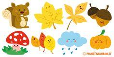 Disegni sull'autunno da ritagliare