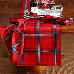 classic tartan plaid table runner - Christmas Plaid Table Runner