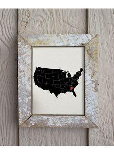 I Heart Georgia I Heart Atlanta USA 8 x 10 by hunterandsmile, $17.50