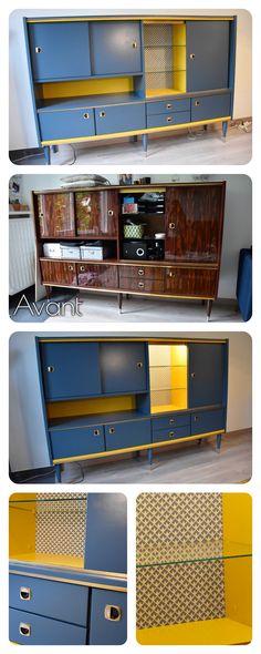 Buffet vintage 70's - Relooking DIY