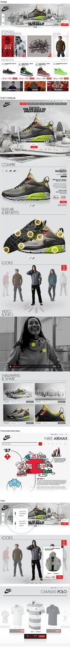 Nike Sportswear Artwalk by Fabricio Alves #inspiration #ux #ui