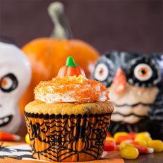Halloween Chocolate Chip Pumpkin Cupcakes, Gluten Free