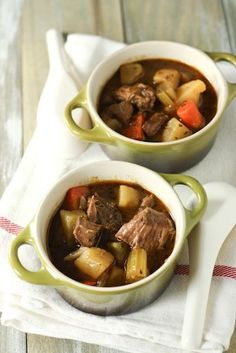 Irish Beef Stew on thelittlekitchen.net -- Delicious and so comforting!